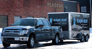 Sani-bin Truck and Trailer